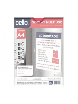 QUADRO/DISPLAY A4 MULTIUSO PP CR 0534.H DELLO