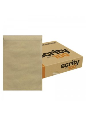 ENVELOPE KRAFT C/100 370X470 80GR SKN347 SCRITY