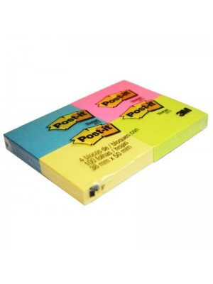 POST IT C/4 BLOCOS 653 NOVAS CORES 38X50 3M