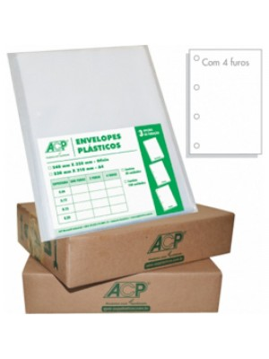 ENVELOPE PLASTICO C/100 OF 4F 0,12 ACP