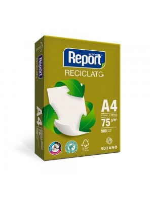 PAPEL RECICLADO A4 REPORT RECICLATO