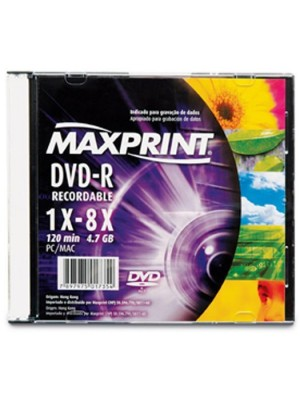DVD-R (-) 4.7GB 16X SLIM MAXPRINT