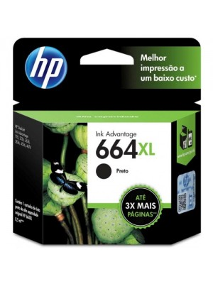 CARTUCHO ORIG. HP664XL F6V31AB 8,5ML PRETO