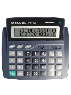 CALCULADORA MESA EXTRA GRANDE 12 DIGITOS PC123 PROCALC